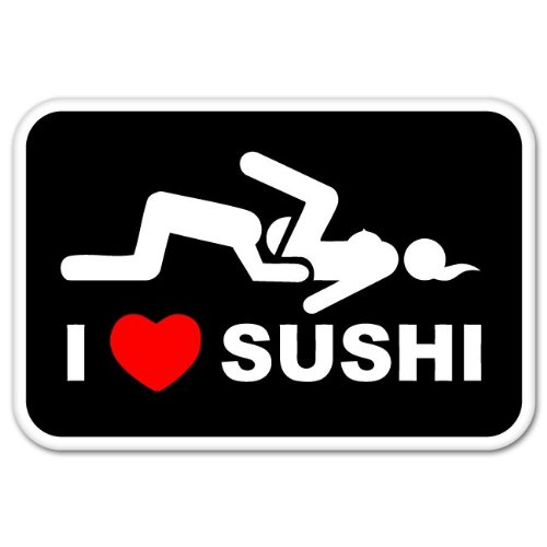 Sushi adult bumper sticker window product image