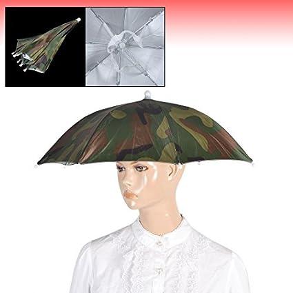 Amazon.com : eDealMax Camuflaje Banda elástica Lluvia sombrilla Sombrero 13, 4 pulgadas de Largo Verde : Sports & Outdoors