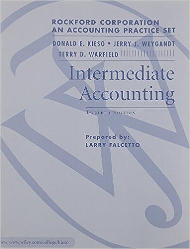 Intermediate Accounting Rockford Practice Set