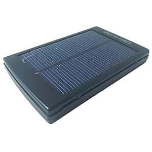 5500mAh Portable USB Solar Charger External Battery for Samsung iPhone iPad Cellphone , Black
