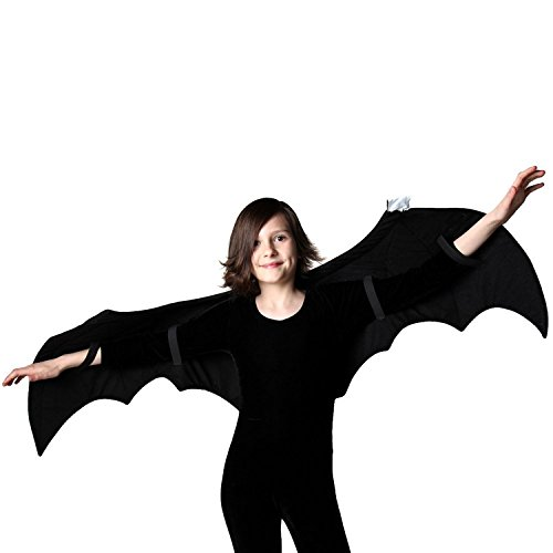 A Simple Wish Costumes (Kids Black Bat Costume and Pretend Play Wings)