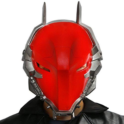 XCOSER® Arkham Knight Helmet Mask Props for Adult Halloween Villain Costume PVC Red