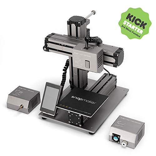 Snapmaker 3-in-1 3D Printer (3D Printing/CNC Carving/Laser Engraving), All-Metal Build, Entry-Level Digital Fabrication Tool, Easy to Use Software, Free PLA Filament, Upgraded ()