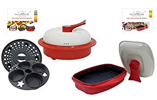 Microhearth Cookware Set (Everyday Pan Combo & Grill Pan) for Microwave Oven, Red (B00DYNVFUE) | Amazon price tracker / tracking, Amazon price history charts, Amazon price watches, Amazon price drop alerts