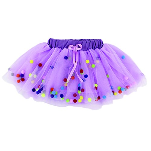 KAKAKI Infinity Baby Girls TUTU Dress Multi-Layer Tulle Balls Dress for Toddler Girls(Purple,80)