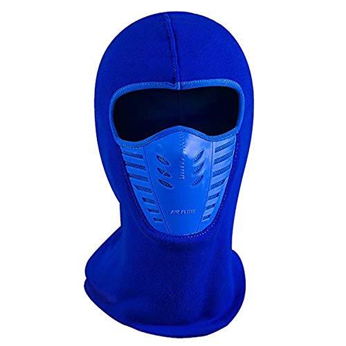 (Blue-Ocean-11 - Face Mask Outdoor Winter Warm Bicycle Bike Climbing Skiing Windproof Carbon Filter Thermal Fleece Balaclava Head)