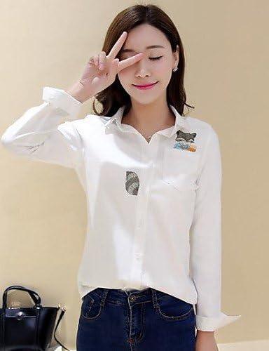 aiu Mujer Animal Print Azul/Blanco Camisa, Camisa manga larga Azul azul Talla:small: Amazon.es: Deportes y aire libre