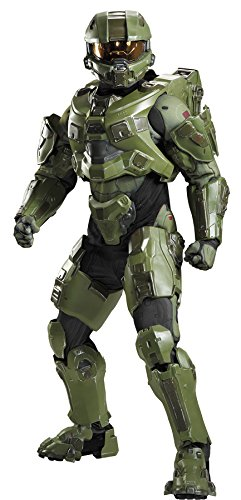 (Men's Master Chief Halo Ultra Prestige Military Soldier Halloween Costume, Plus)