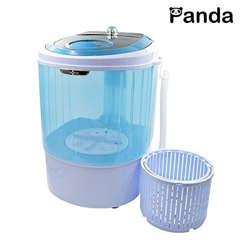 Panda Small Mini Portable Counter Top Compact Washer Washing Machine with Spin Basket 5.5-6Lbs Capacity (Washer Machine Top Load compare prices)