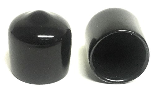 (Pack of 20) 3/8 inch Round Black Rubber/Vinyl Pipe End Cap Cover .375 (Rubber Round Tubing)