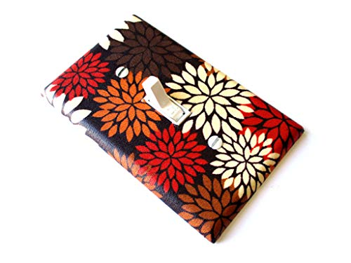 Light Switch Cover Plate Fall Floral Mums