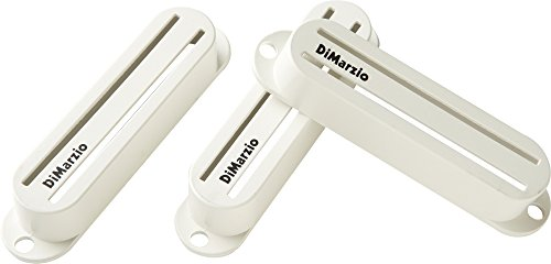 DiMarzio DM2002 Fast Track Strat Pickup Covers Set of 3 White (Dimarzio Strat Pickup Cover)