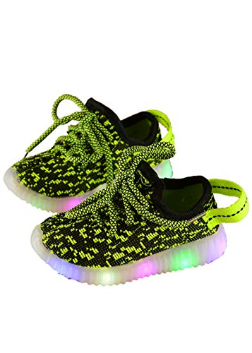 ZWEILI LED Light Illuminate Shoes Mesh Fly Woven Sneakers Breathable Children's Shoes