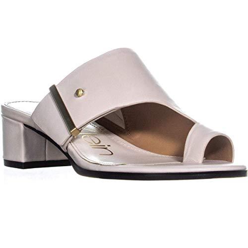 Calvin Klein Womens Daria Nappa Leather Split Toe Casual, Soft White, Size 7.0
