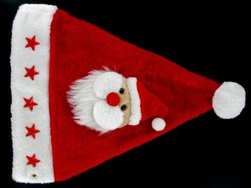 off Tête On 46a Très Et À Bouton Led Alsino Lux Du Classe Bonnet Noel Adulte Wm Lumineux Père De 5 Péluche Clignotante Noël Pour Avec Étoiles Yp4Sx