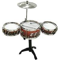 Tabu Toys World Educational Toy Jazz Drum Musical Instrument Set with 3 Drums Sticks, 1 Cymbal Bracket (Random Colour)