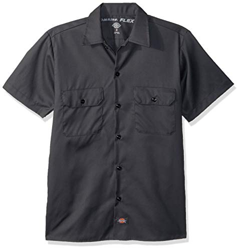 Dickies Men's Short-Sleeve Flex Work Shirt Slim Fit