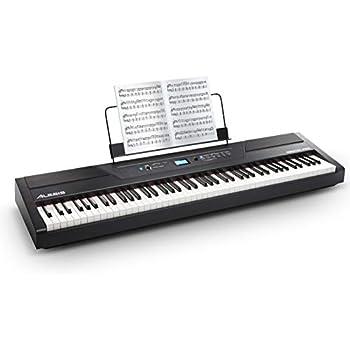 alesis recital pro digital piano keyboard with 88 hammer action keys 12 premium. Black Bedroom Furniture Sets. Home Design Ideas