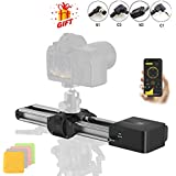 Zeapon Motorized Micro 2 Camera Slider  Travel Distance 54cm/21in  4.5KG All-Direction Capacity  39 Decibels Motor  3 Adjustable Speeds  APP Supporting Android & iOS …