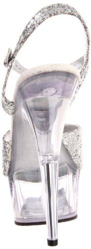 Pleaser Delight argent Plateau Mujer Blanco 609 waqBw1Zg