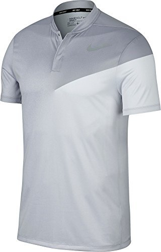 Nike Men's Dry Slim Print Golf Polo(Wolf Grey/Flt Silver, M) (Polo Nike Chest Graphic)