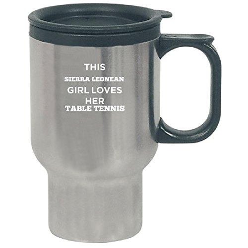 This Sierra Leonean Girl Loves Her Table Tennis - Travel Mug (Coffee Table Sierra Outdoor)