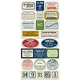 7gypsies 17914 Apothecary Label, Vintage