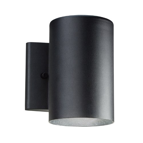 Kichler Black Floor Lamp - Kichler  11250BKT Outdoor 11.23W 7-Inch LED Wall Mount, Textured Black Finish