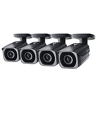 4-Pack of Lorex 8MP 4K IP Bullet Security Camera LNB8921BW, 250ft IR Night Vision from Lorex
