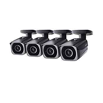 Image of 4-Pack of Lorex 8MP 4K IP Motorized Varifocal Zoom Bullet Security Camera LNB8973BW, 250ft IR Night Vision, 4X Zoom Bullet Cameras