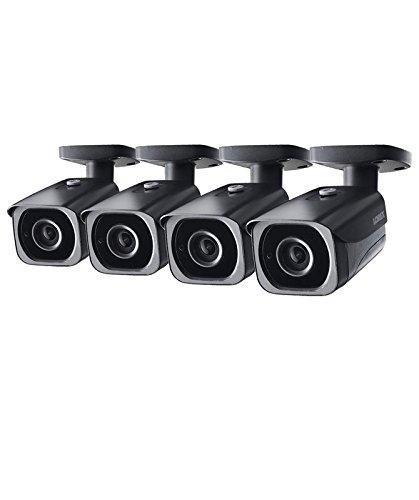 (4-Pack of Lorex 8MP 4K IP Motorized Varifocal Zoom Bullet Security Camera LNB8973BW, 250ft IR Night Vision, 4x Zoom)