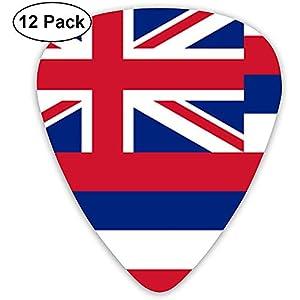 Sherly Yard Flagge von Hawaii Plektren 12er Pack – 3 verschiedene Größen inklusive dünn, mittel und schwer
