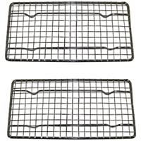 Heavy-Duty Cooling Rack, Cooling Racks, Wire Pan Grade, Commercial grade, Oven-safe, Chrome, 4¼ x 8x215B; Inches, Set of 2
