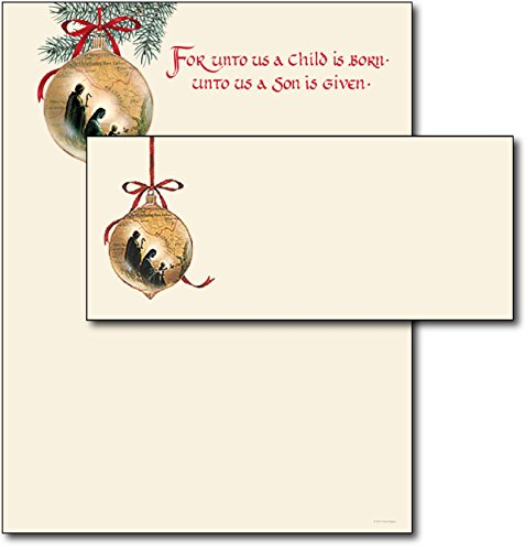 Holy Family Letterhead & Envelopes - 40 Sets (Stationery Envelopes Christmas And)