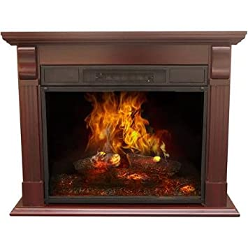 Amazon Com Decor Flame Electric Fireplace With 33 Mantle Kitchen