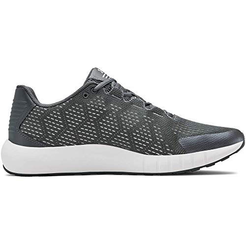 Under Armour Men's Micro G Pursuit SE Running Shoe, Pitch Gray (100)/Onyx White, 9.5