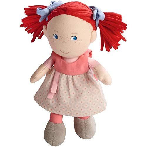 """HABA Soft Doll Mirli 8"""" - First Baby Doll with Red Pigtails for Ages 6 Months and Up."""