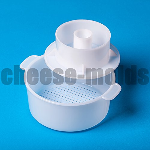 Edam Hard Cheese Mold With Follower Large For 2.2lbs / 1kg. | Cow Goat Rennet Milk | Cheesemaking from Cow and Goat Milk. Cheese making supplies from the manufacturer.
