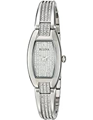 Bulova Womens 96L235 Swarovski Crystal Stainless Steel Watch
