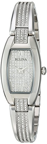 Bulova Women's 96L235 Swarovski Crystal Stainless Steel Watch