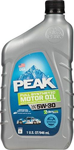 5W30 Full Synthetic Motor Oil - 1 Quart Bottle, (Pack of 6) - Peak PEK12031