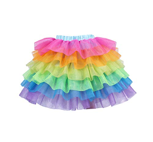 Tao-Ge Rainbow Tulle Skirts for Girls Unicorn Tutu Skirts for -