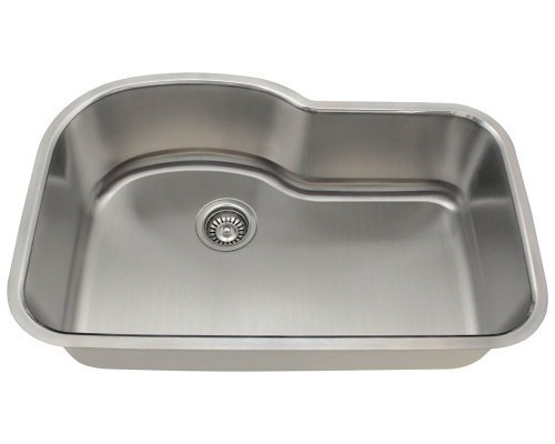 Polaris Sinks P643-18 Offset Single Bowl Stainless Steel Sink by Polaris Sinks by Polaris Sinks