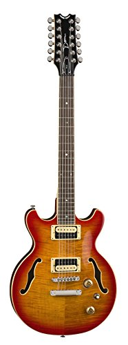 Dean BOCA 12 String Semi Hollow Body Electric Guitar Trans Cherry Sun Burst by Dean Guitars