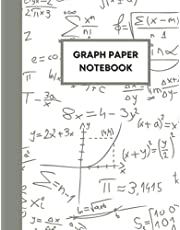 Graph Paper Composition Notebook: Grid Paper Notebook, Half Grid Half Lined Sheets, 100 Sheets (Large, 8.5 x 11) (Graph Paper Notebooks)