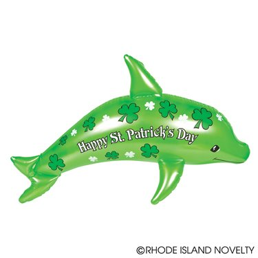 """Happy Saint Patrick's Day Inflatable Dolphin-36"""" / Party / Decor / Favor /Giveaway/Decoration"""