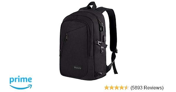 ... Charging Port Fits 15.6 inch Laptop, Slim Travel College Bookbag for  MacBook Computer, School Computer Bag for Women   Men by Mancro (Black)   Computers ... 5552028b92