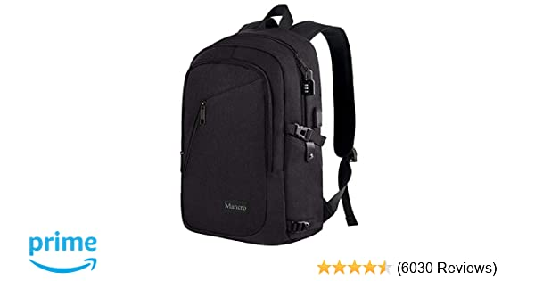 4a4b3649fee Amazon.com: Anti Theft Business Laptop Backpack with USB Charging Port Fits  15.6 inch Laptop, Slim Travel College Bookbag for MacBook Computer, ...