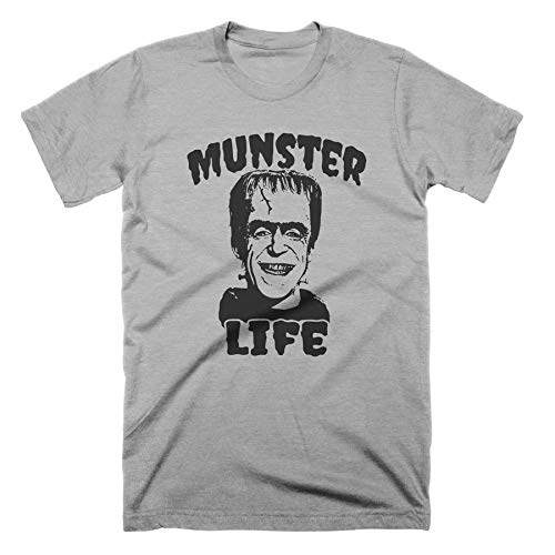 Frankenstein T Shirt Munster Life TShirt Vintage Monster T Shirt Herman Munster Shirt Horror Movie T Shirt Halloween Shirt Funny Tshirts Thug Life Shirt Mens Tshirts