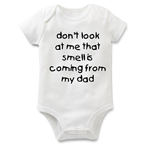 Funny Slogan Super Soft Cotton Comfy Baby Short Sleeve Bodysuit(6 My Dad) (Onesies Sayings)